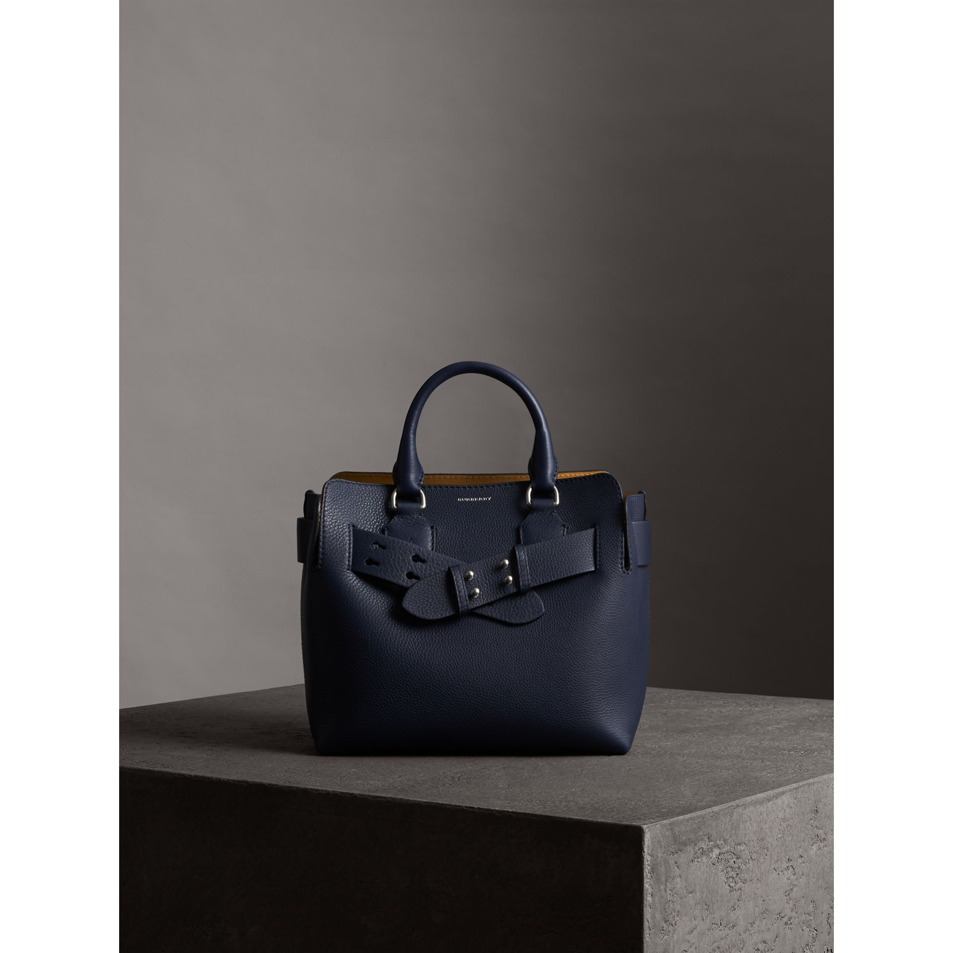 The Small Belt Bag Grainy Leather Belt in Regency Blue - Women | Burberry Hong Kong - gallery image 4
