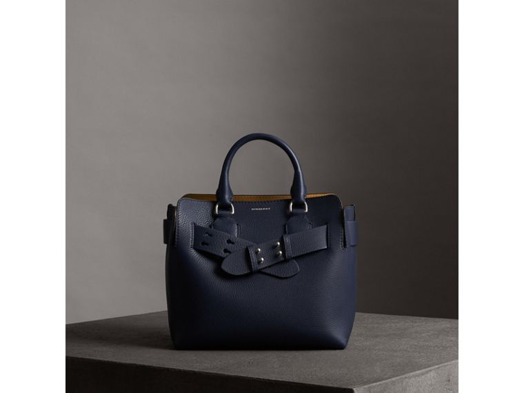 The Small Belt Bag Grainy Leather Belt in Regency Blue - Women | Burberry Hong Kong - cell image 4