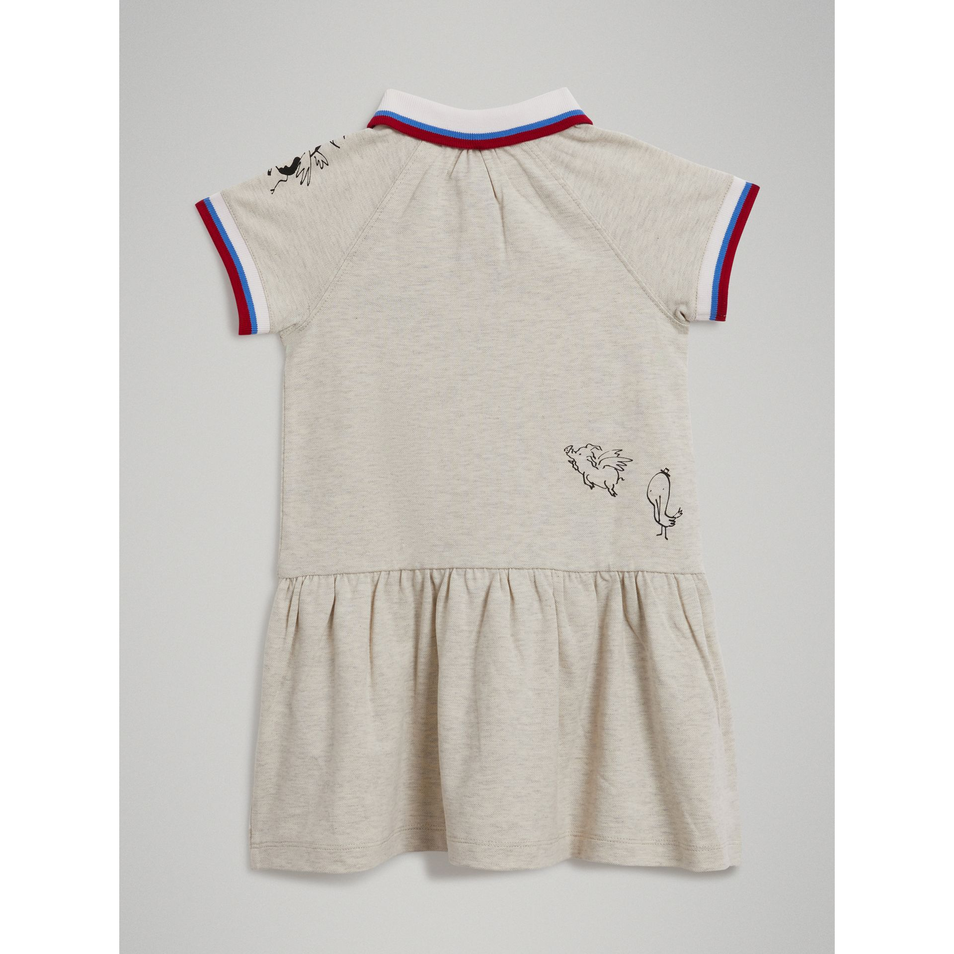 Robe polo en coton extensible (Camaïeu De Blancs) - Fille | Burberry Canada - photo de la galerie 3