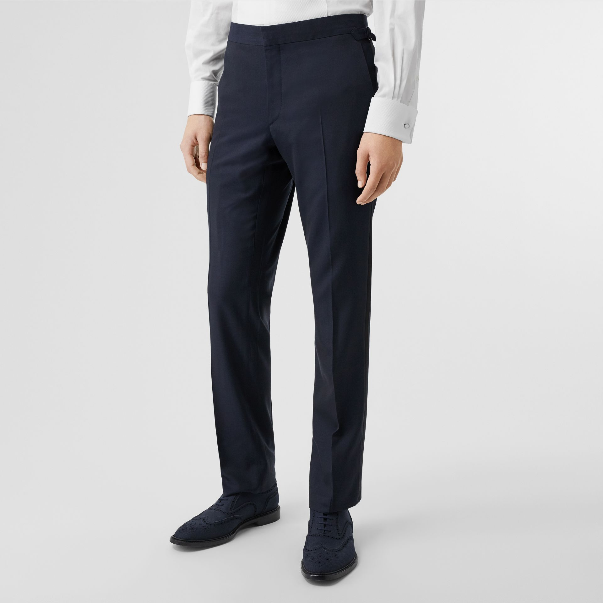 Classic Fit Wool Silk Tuxedo in Navy - Men | Burberry Australia - gallery image 6