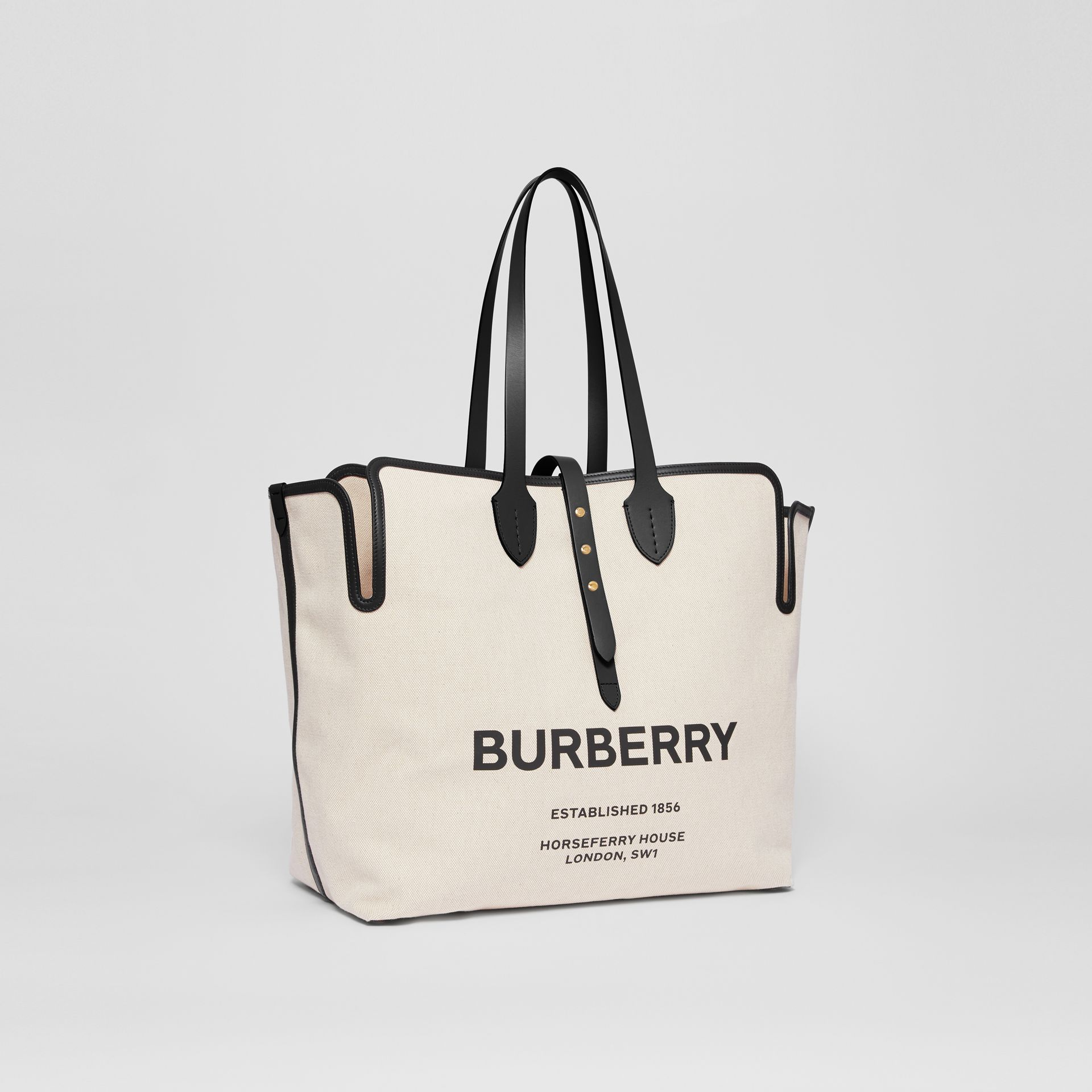 The Medium Soft Cotton Canvas Belt Bag in Black - Women | Burberry Singapore - gallery image 4