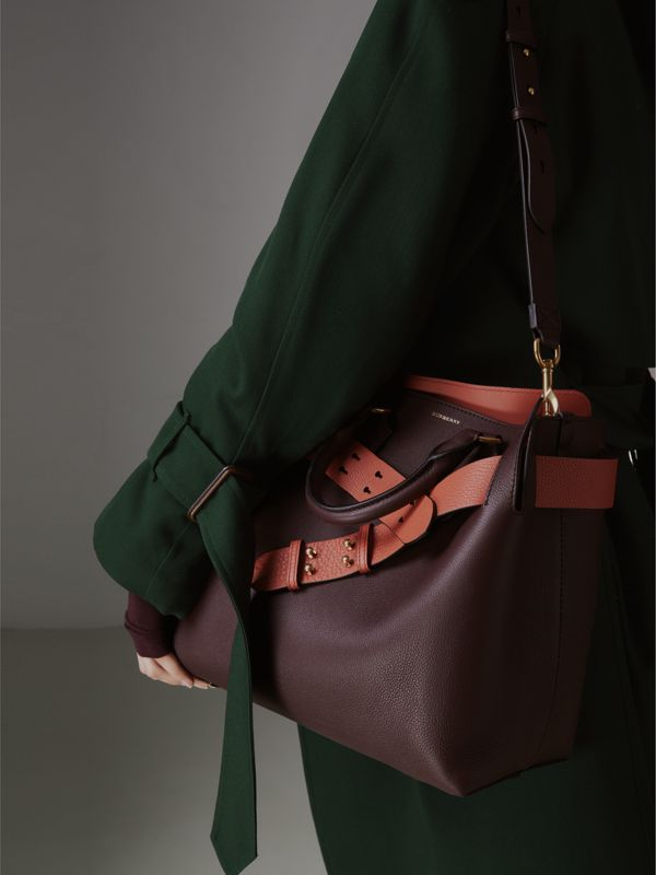 The Medium Leather Belt Bag in Deep Claret - Women | Burberry - cell image 3