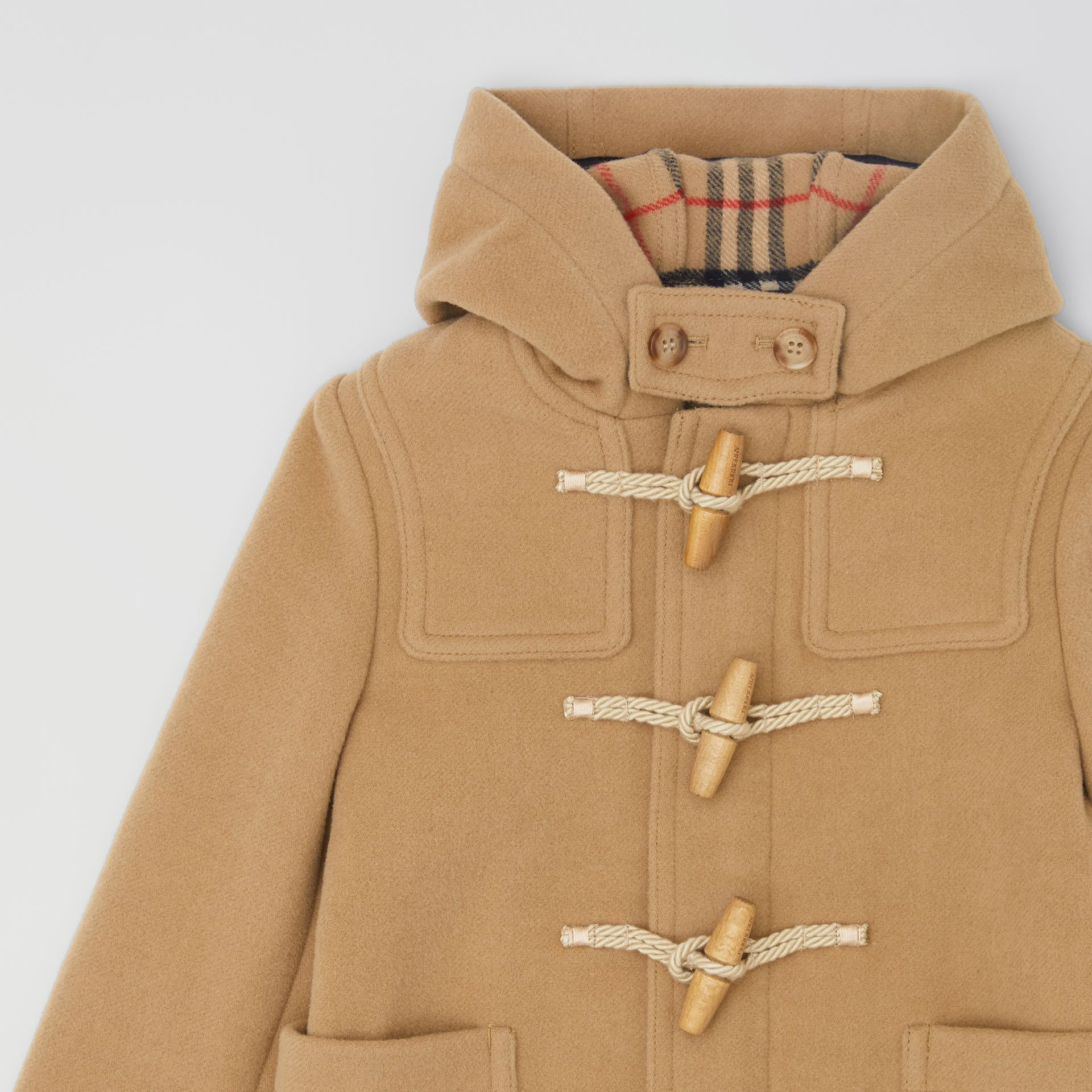 Boiled Wool Duffle Coat in Archive Beige | Burberry Canada - gallery image 5