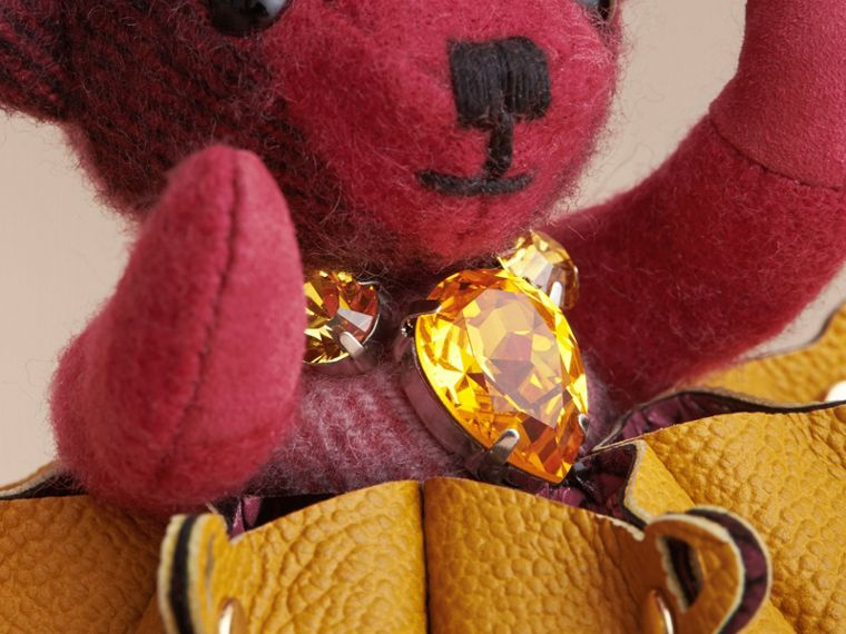 Thomas Bear Charm in Leather Lace and Crystals - cell image 1