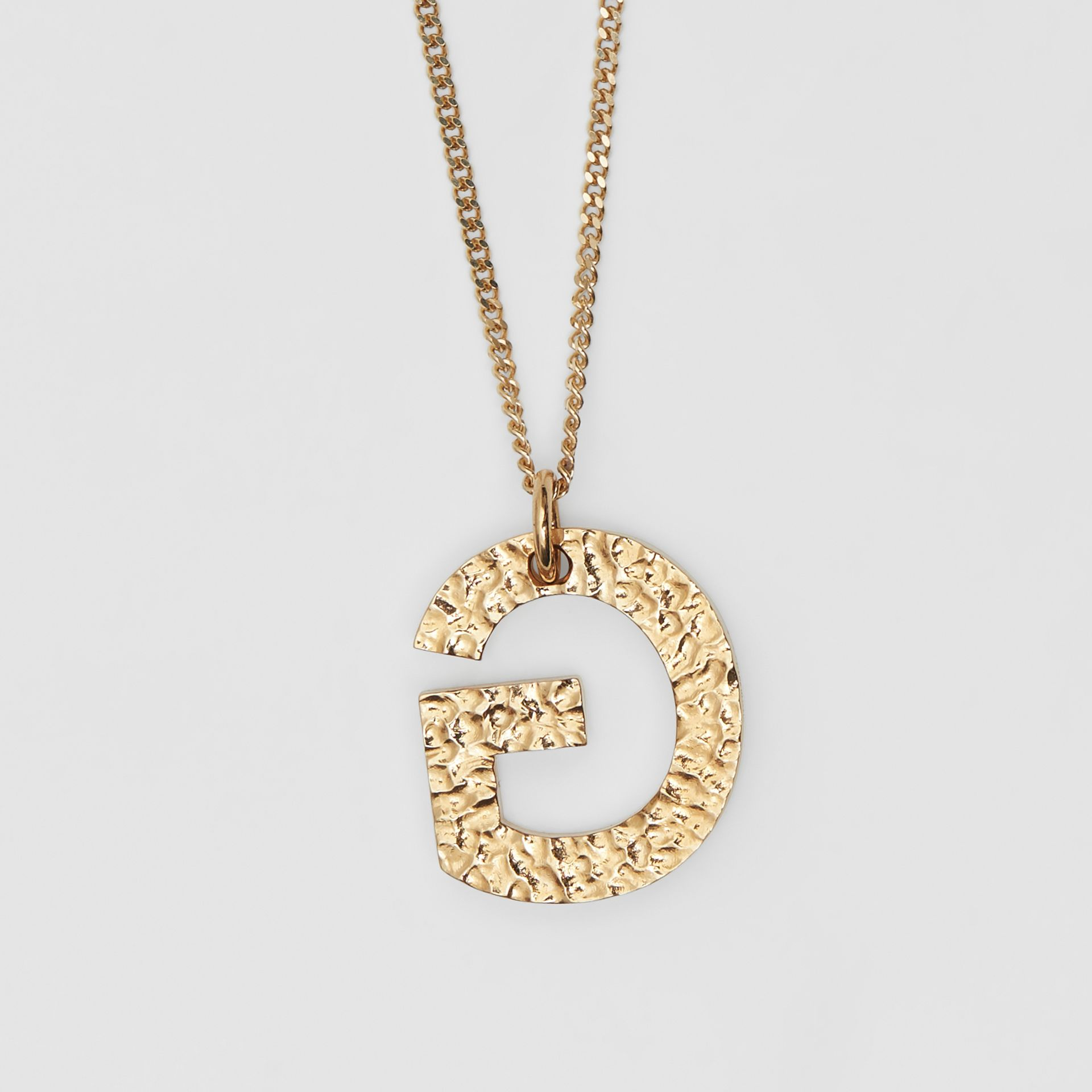 'G' Alphabet Charm Gold-plated Necklace in Light - Women | Burberry United Kingdom - gallery image 2