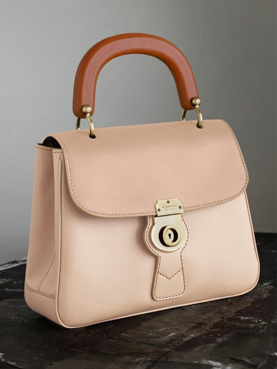 The Medium DK88 Top Handle Bag Limestone/honey