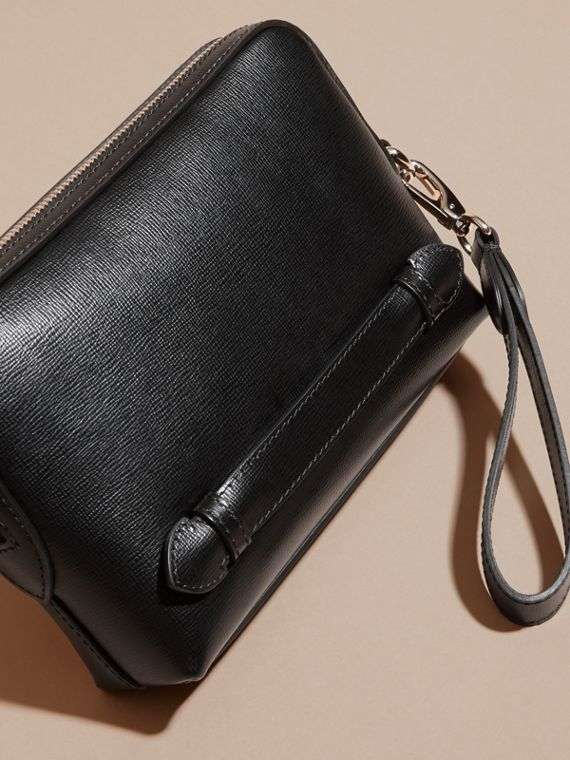 London Leather Pouch in Black - Men | Burberry - cell image 3