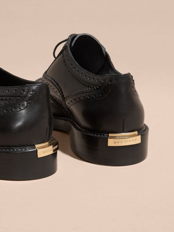 Black Leather Wingtip Brogues Black - cell image 3