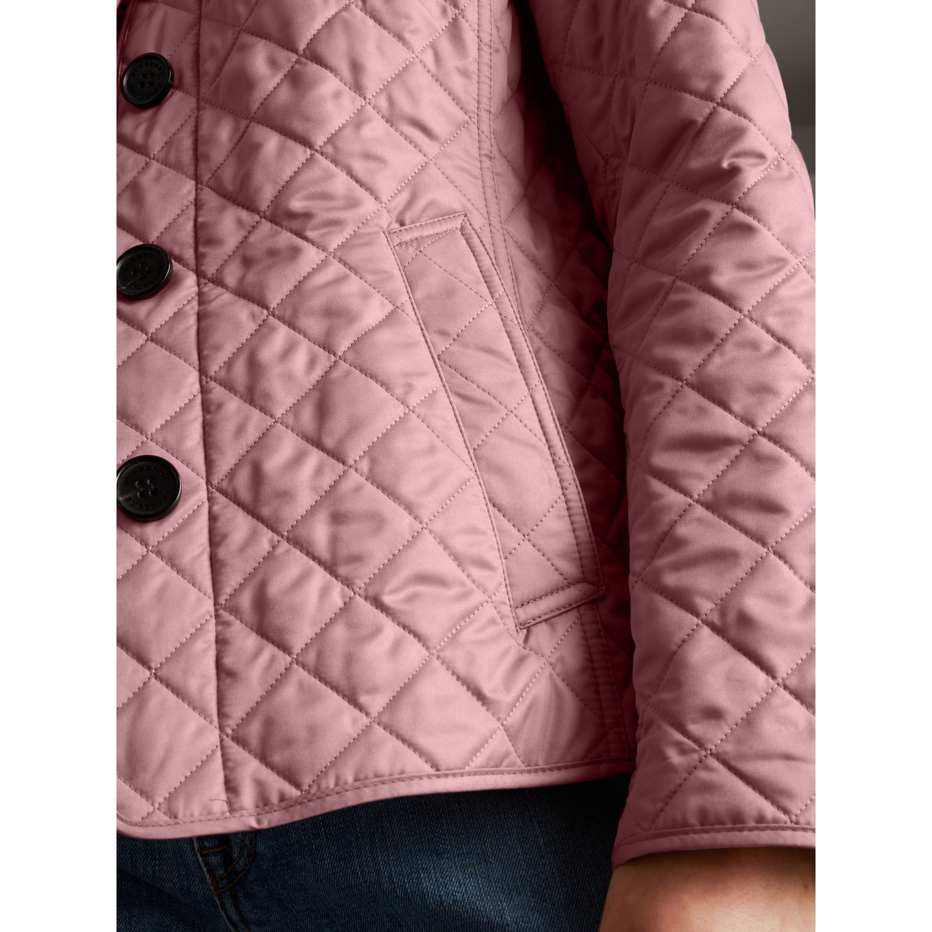 Diamond Quilted Jacket in Vintage Rose - Women | Burberry - gallery image 4