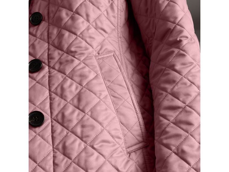 Diamond Quilted Jacket in Vintage Rose - Women | Burberry - cell image 4