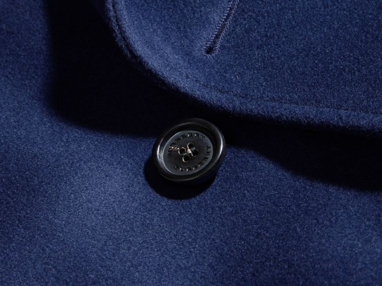 Bright steel blue Wool Cashmere Trench Coat - cell image 1