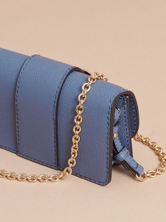 The Mini Buckle Bag in Grainy Leather in Steel Blue - Women | Burberry Hong Kong - cell image 2