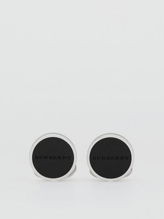 Set di gemelli e bottoni gioiello in agata con incisione (Argento)