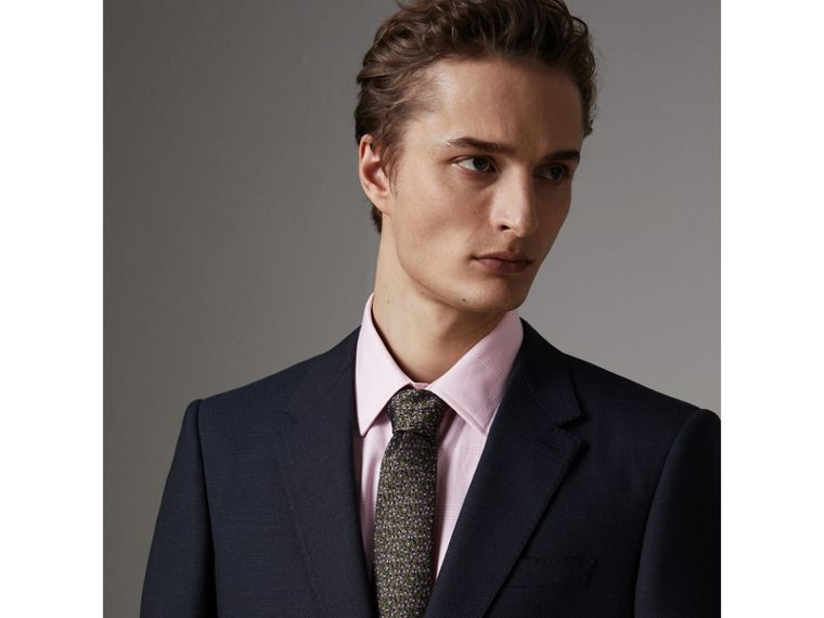 Modern Fit Wool Half-canvas Suit in Navy - Men | Burberry - cell image 1