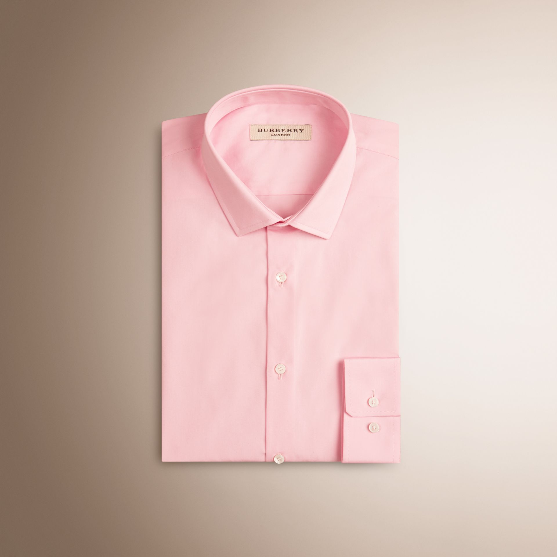 City pink Slim Fit Cotton Poplin Shirt - gallery image 1