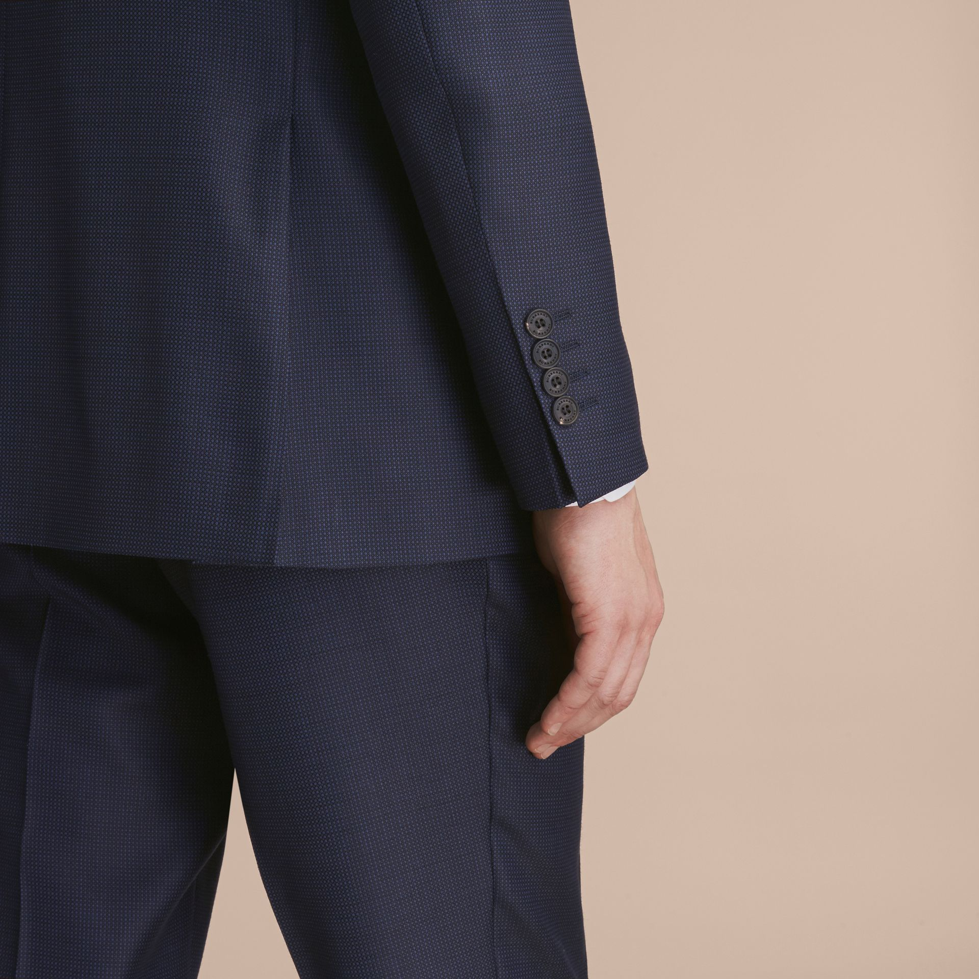 Modern Fit Wool Silk Part-canvas Suit - Men | Burberry - gallery image 6