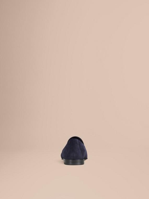 Blu notte/navy Mocassini con nappe in pelle scamosciata a taglio intero Blu Notte/navy - cell image 3