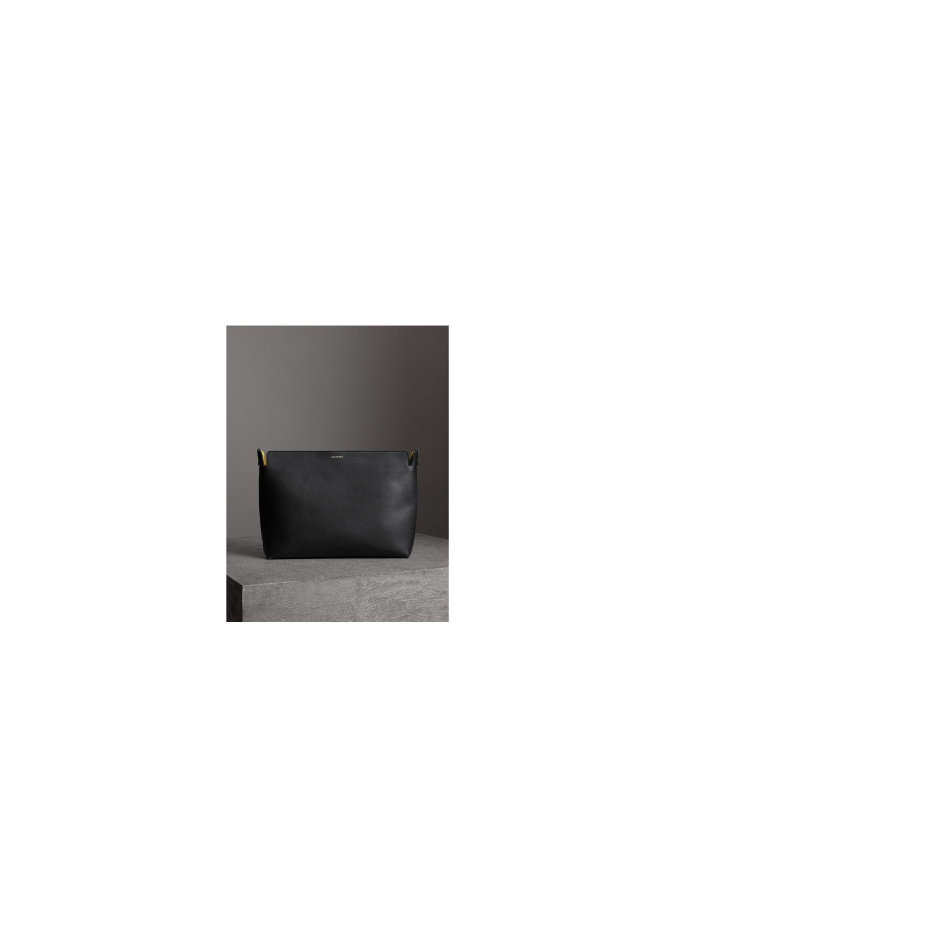 Grand clutch en cuir tricolore (Noir/vert Marin)   Burberry Canada - photo de la galerie 6