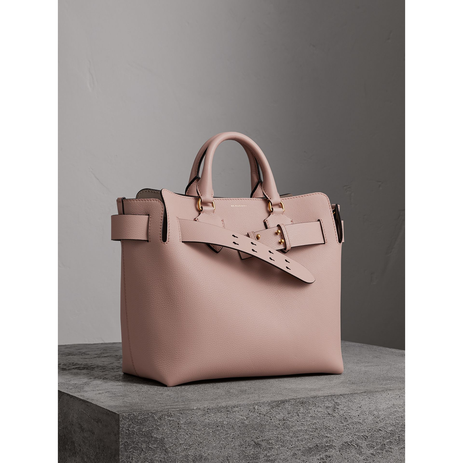 The Medium Leather Belt Bag in Pale Ash Rose - Women | Burberry United States - gallery image 7