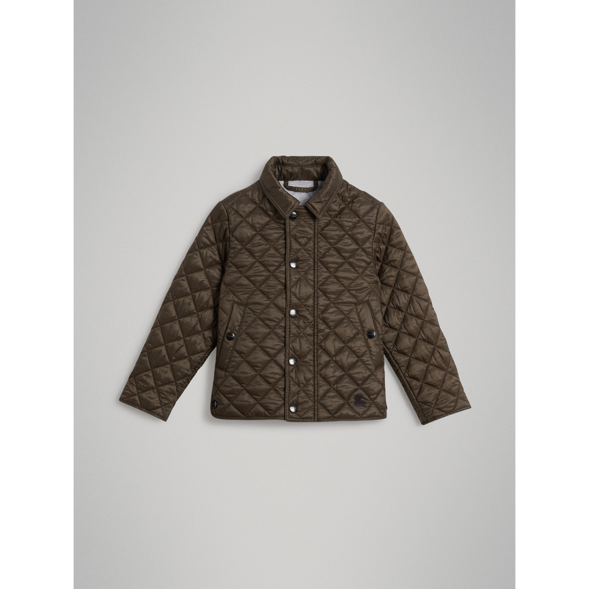 Lightweight Diamond Quilted Jacket in Oregano - Boy | Burberry - gallery image 0