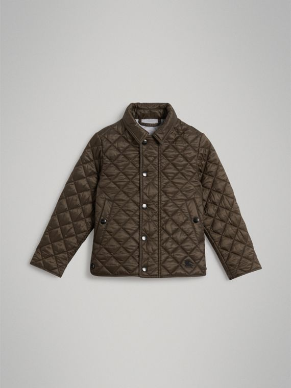Lightweight Diamond Quilted Jacket in Oregano