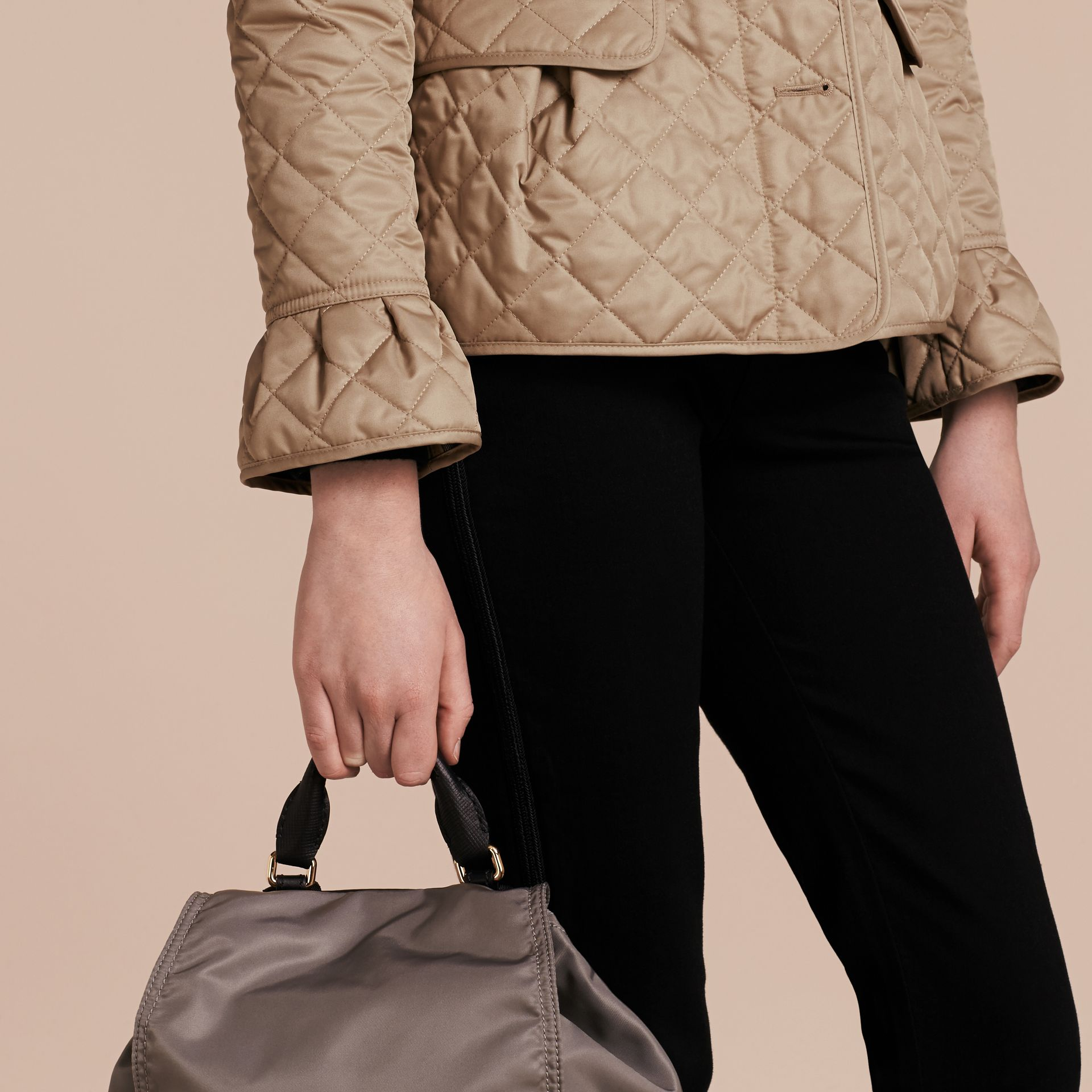 Diamond Quilted Peplum Jacket Canvas - gallery image 6