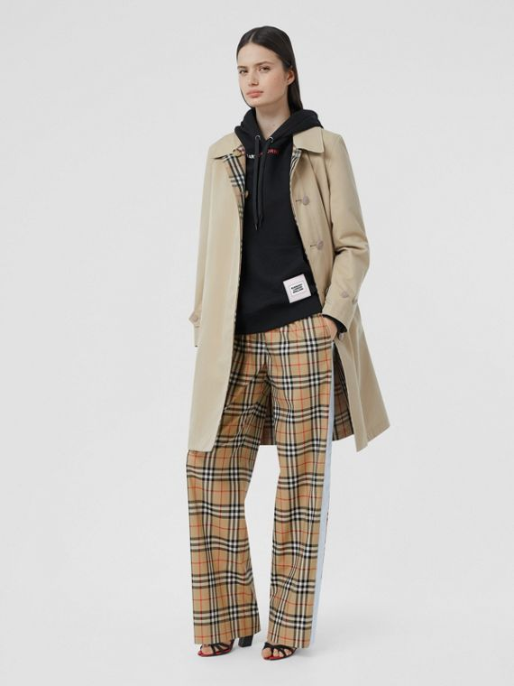Vintage Check Stretch Cotton Trousers in Archive Beige