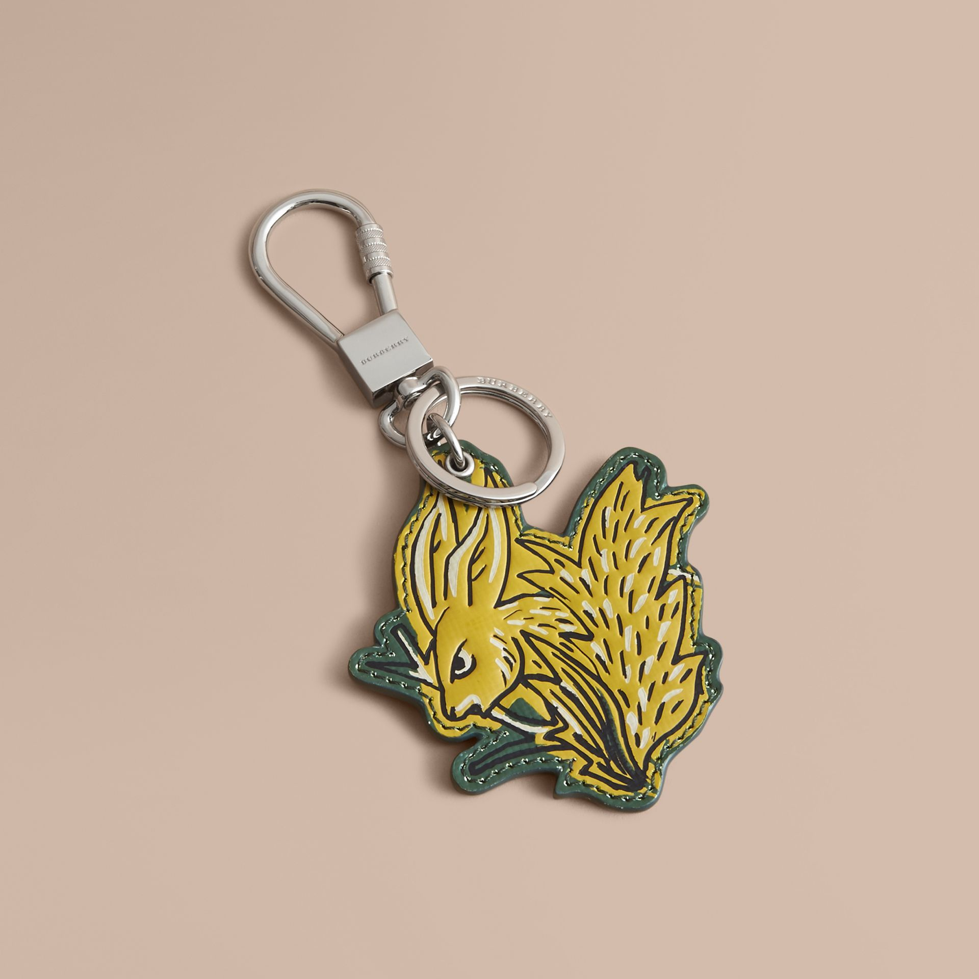 Beasts Leather Key Ring in Honey - gallery image 1