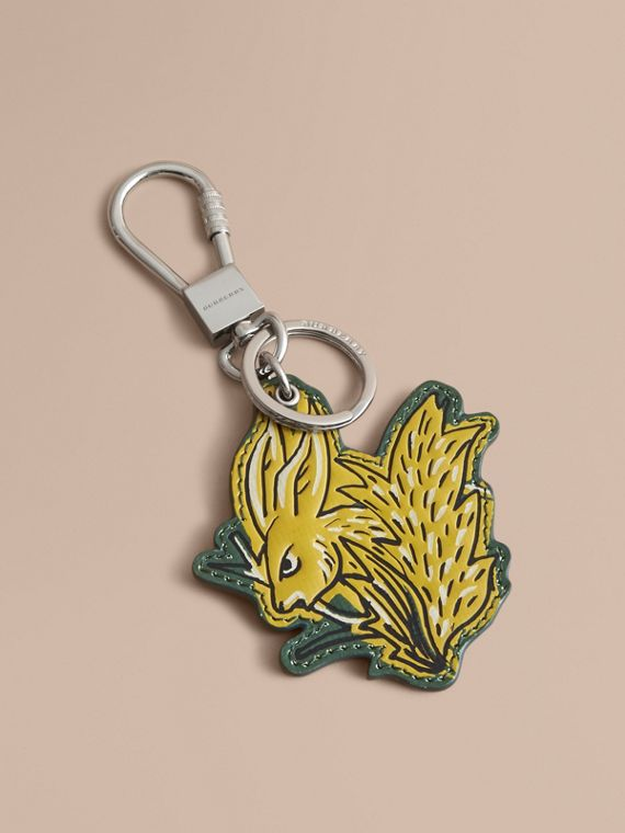 Beasts Leather Key Ring in Honey