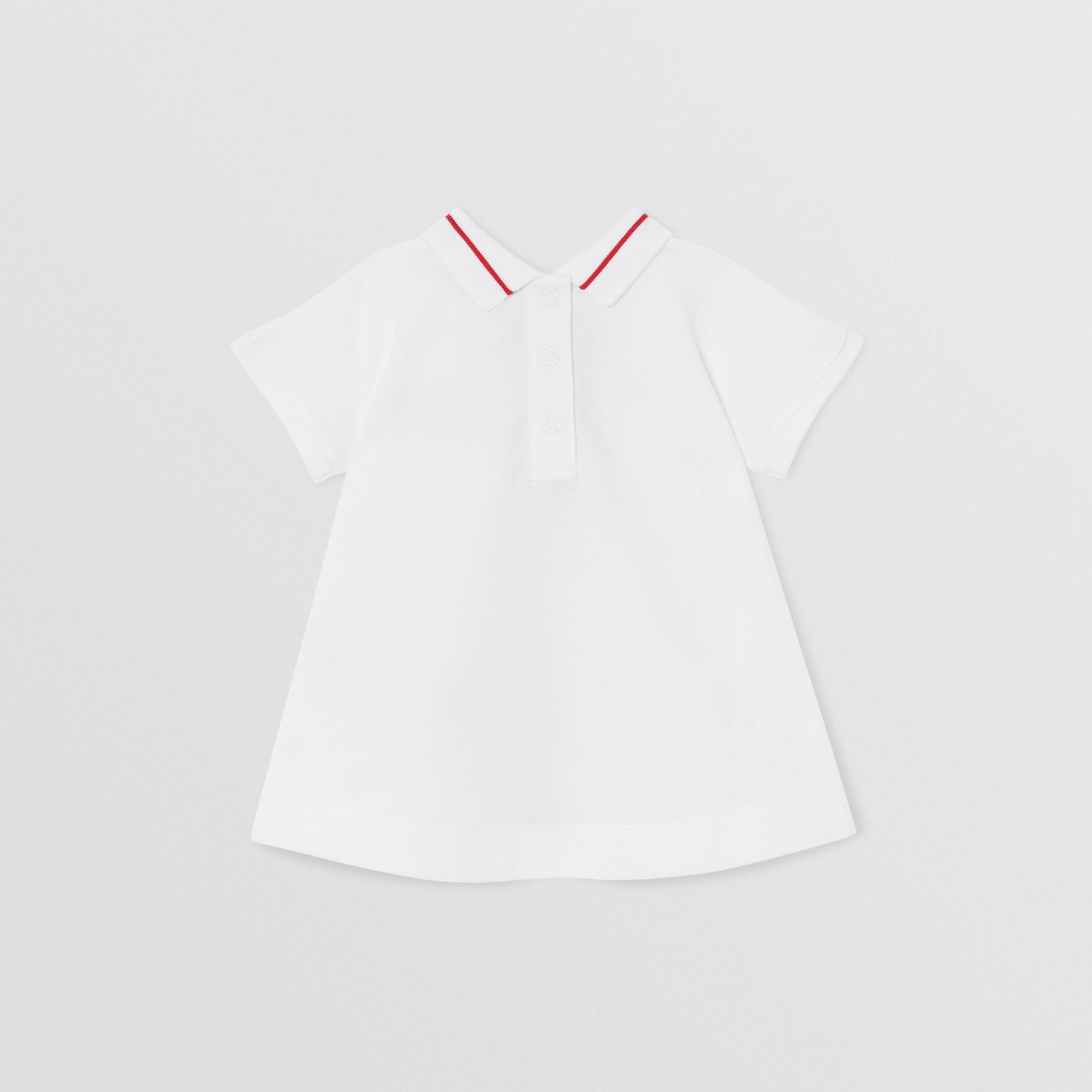 Kleid aus Baumwollpiqué mit Monogrammmuster im Streifendesign und Höschen (Weiß) - Kinder | Burberry - Galerie-Bild 3
