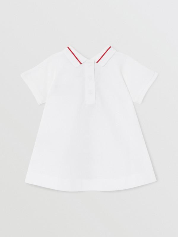 Kleid aus Baumwollpiqué mit Monogrammmuster im Streifendesign und Höschen (Weiß) - Kinder | Burberry - cell image 3