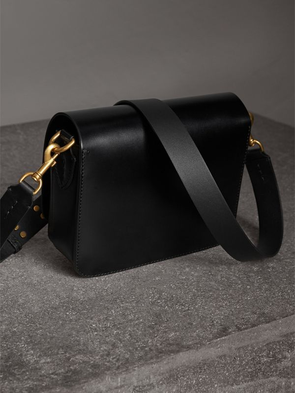 馬勒皮革方型 The Satchel 包 (黑色) - 女款 | Burberry - cell image 3