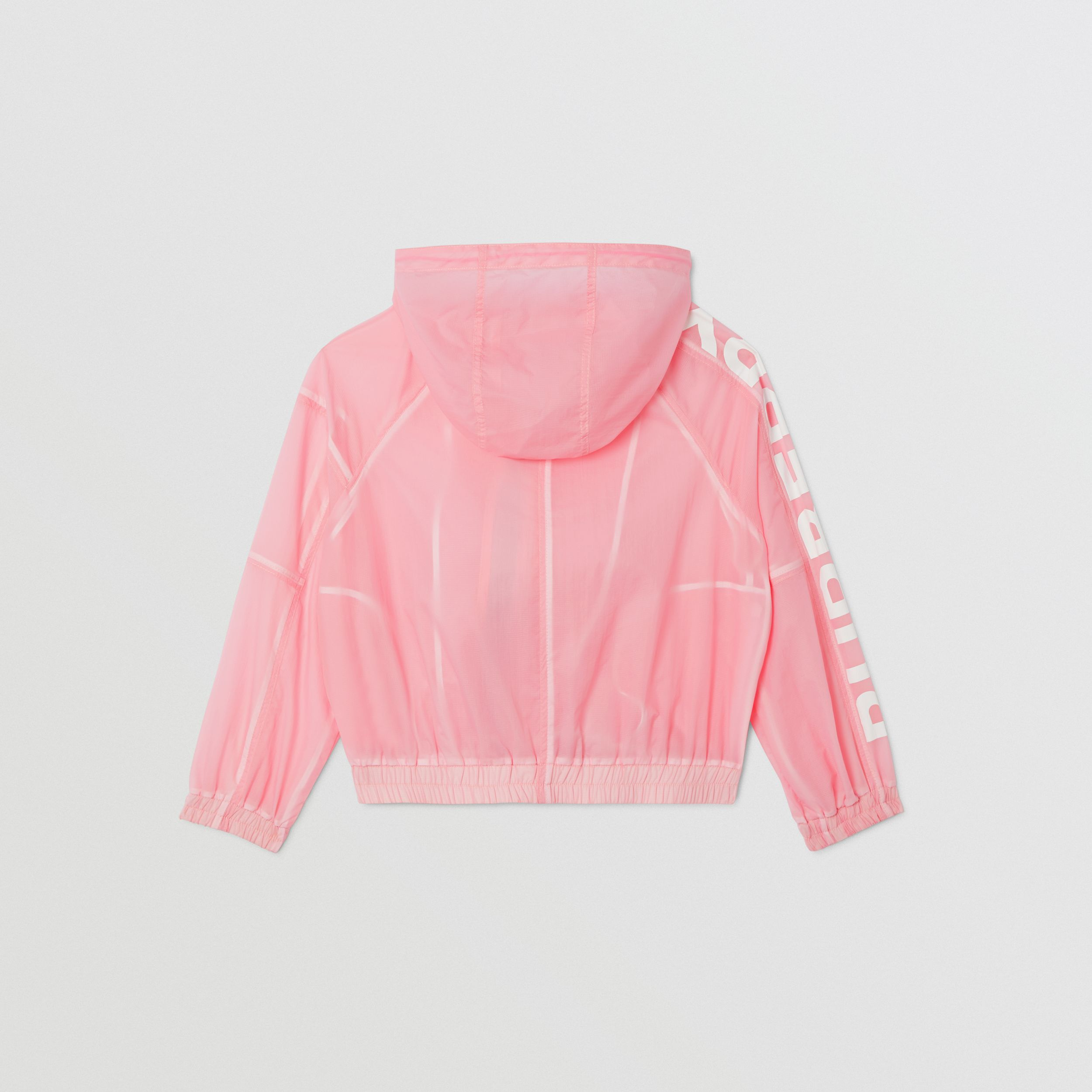 Star Detail Logo Print Lightweight Hooded Jacket in Candy Pink | Burberry - 4