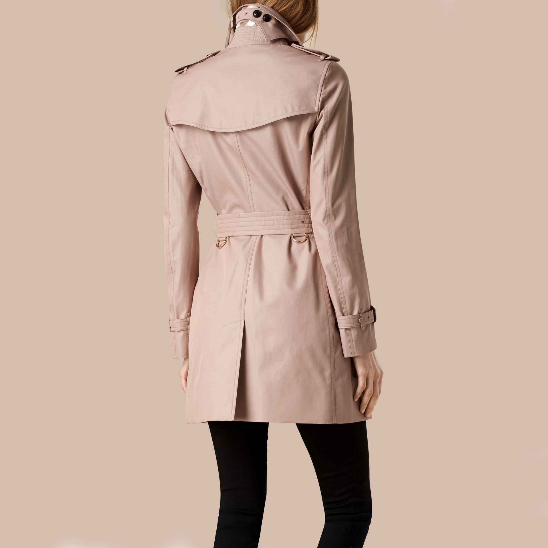Nude Lightweight Cotton Gabardine Trench Coat Nude - gallery image 3