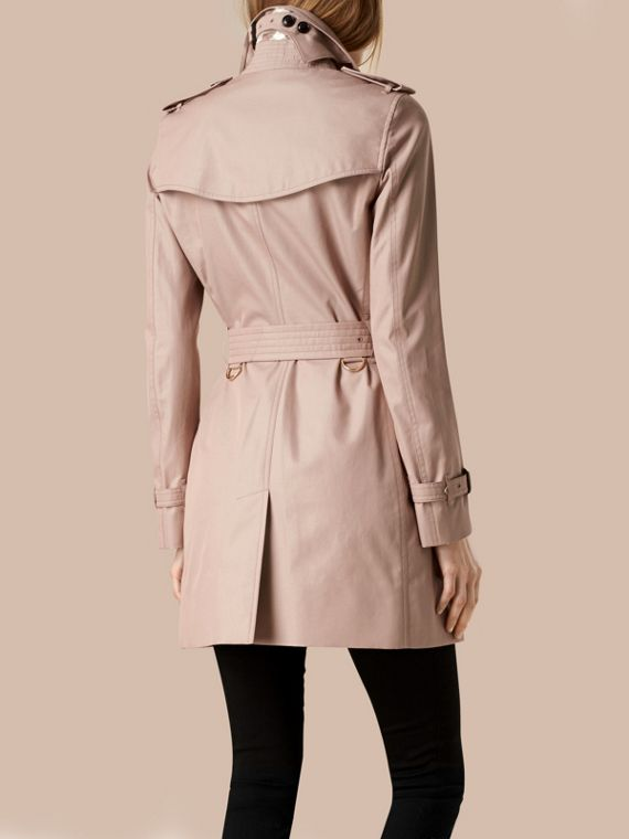 Nude Lightweight Cotton Gabardine Trench Coat Nude - cell image 2