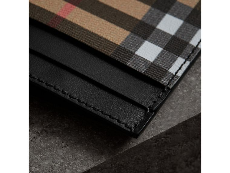 Vintage Check and Leather Card Case in Black - Women | Burberry Singapore - cell image 1