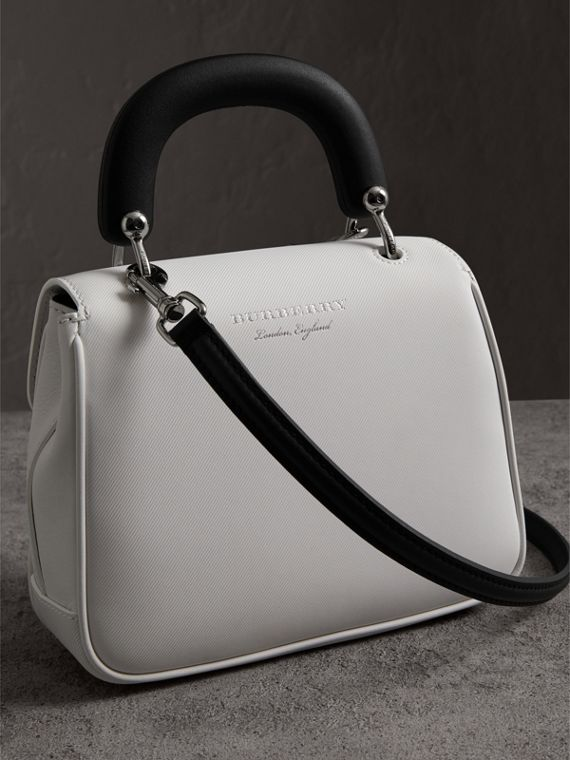 The Small DK88 Top Handle Bag in Chalk White - Women | Burberry United Kingdom - cell image 2