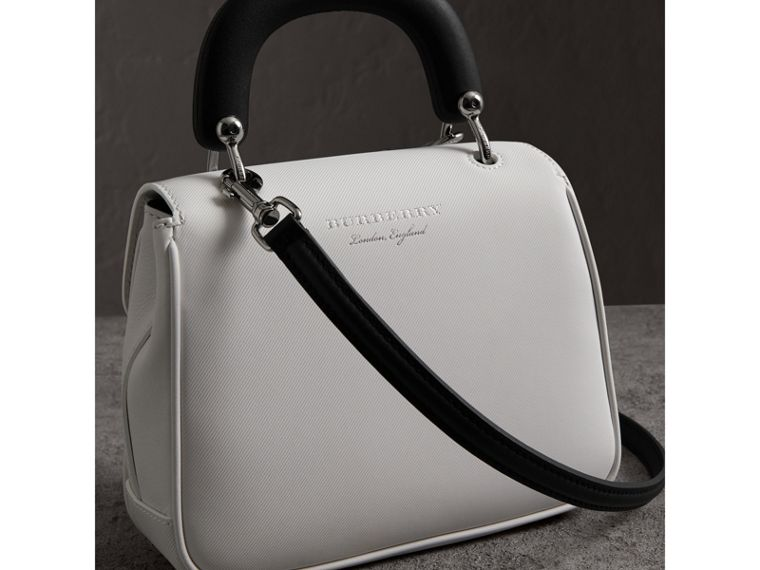 The Small DK88 Top Handle Bag in Chalk White - Women | Burberry United Kingdom - cell image 4