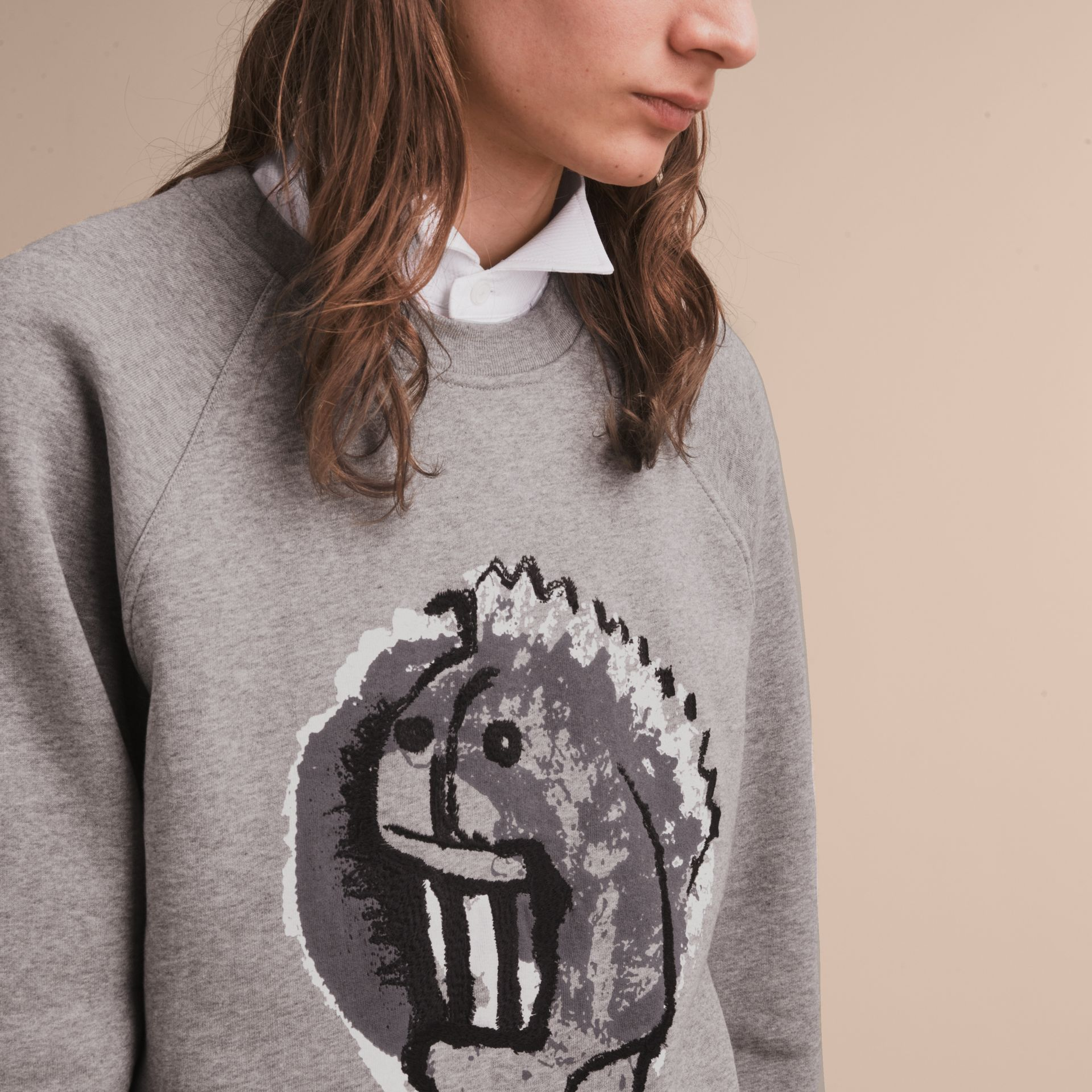 Unisex Pallas Heads Motif Sweatshirt - Men | Burberry - gallery image 6