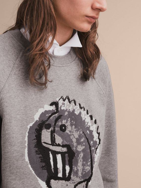 Unisex Pallas Heads Motif Sweatshirt