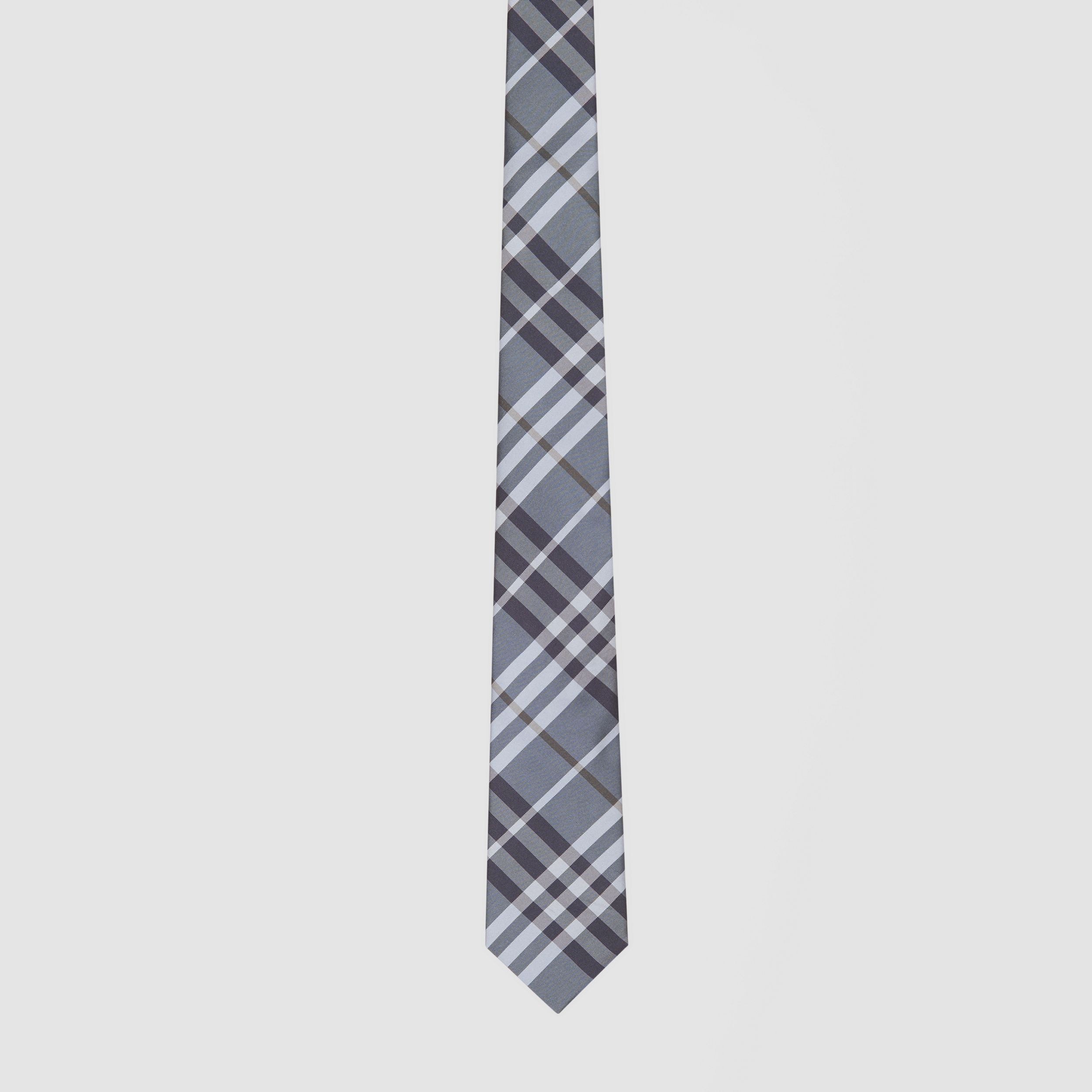 Classic Cut Vintage Check Silk Tie in Chalk Blue - Men | Burberry - 4