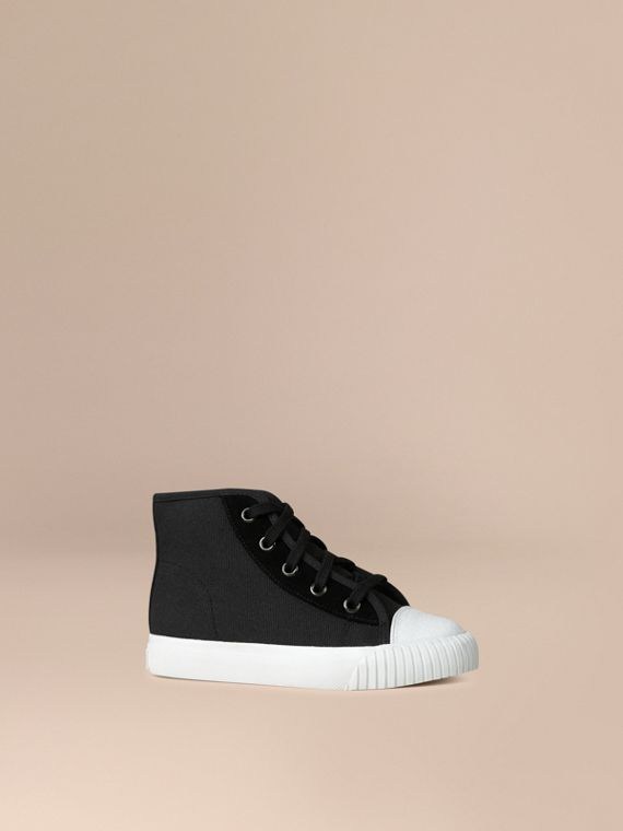 High-top Canvas Trainers | Burberry Canada