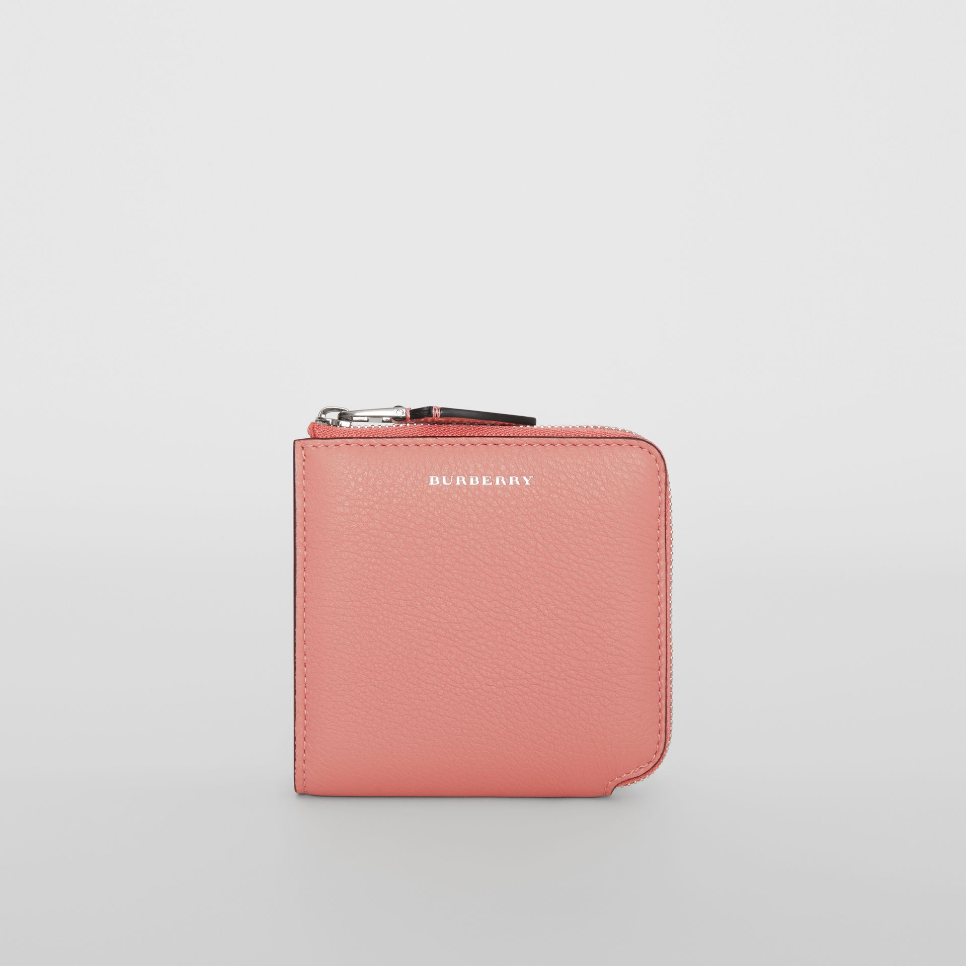 Grainy Leather Square Ziparound Wallet in Dusty Rose - Women | Burberry - gallery image 3