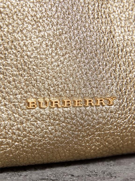 The Medium Rucksack in Metallic Deerskin in Nude Gold - Women | Burberry - cell image 1