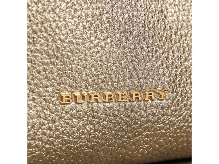 The Medium Rucksack in Metallic Deerskin in Nude Gold - Women | Burberry - cell image 1