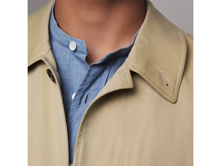 Cotton Gabardine Car Coat in Honey - Men | Burberry - cell image 4