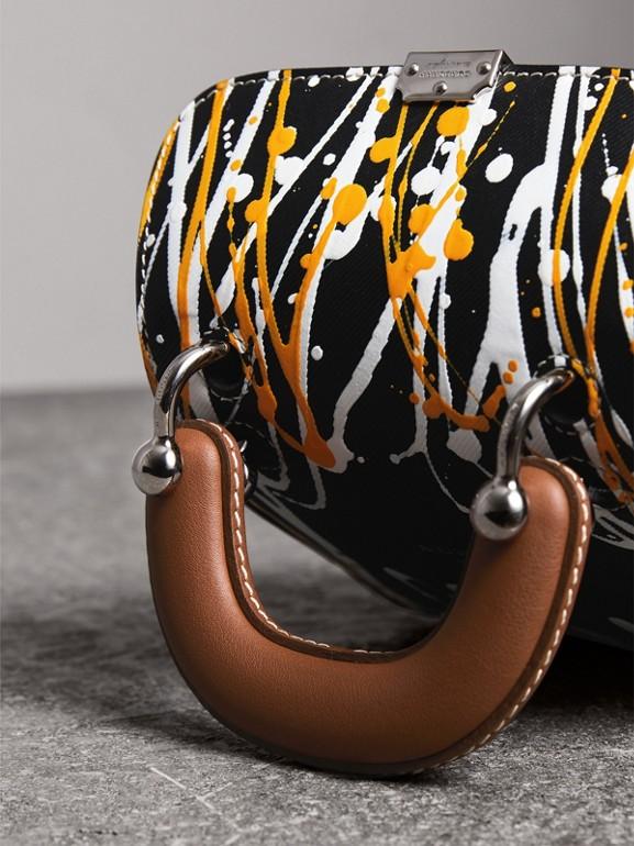 La borsa DK88 mini con manico e motivo a macchie di colore (Nero) - Donna | Burberry - cell image 1