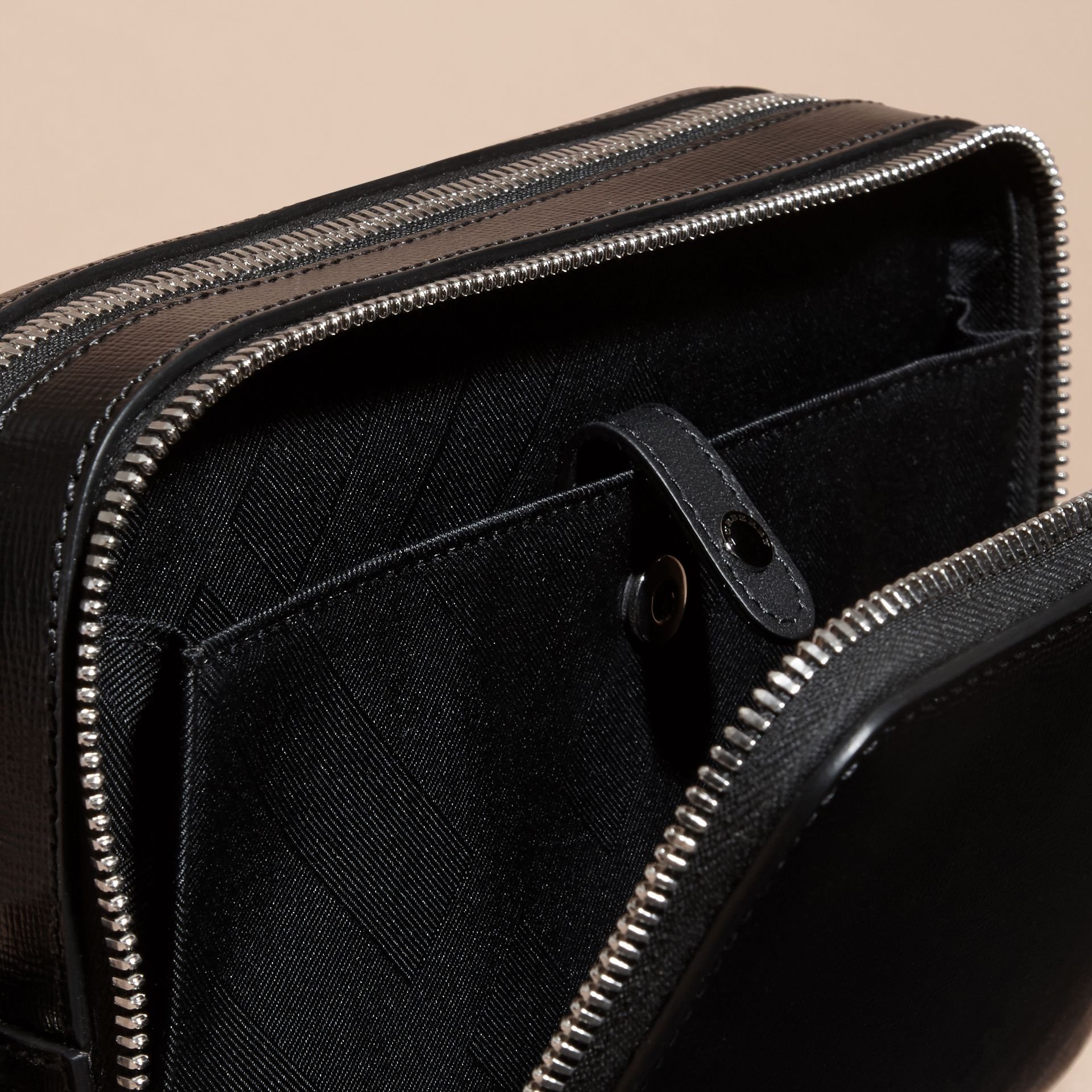 Black London Leather Pouch Black - gallery image 5