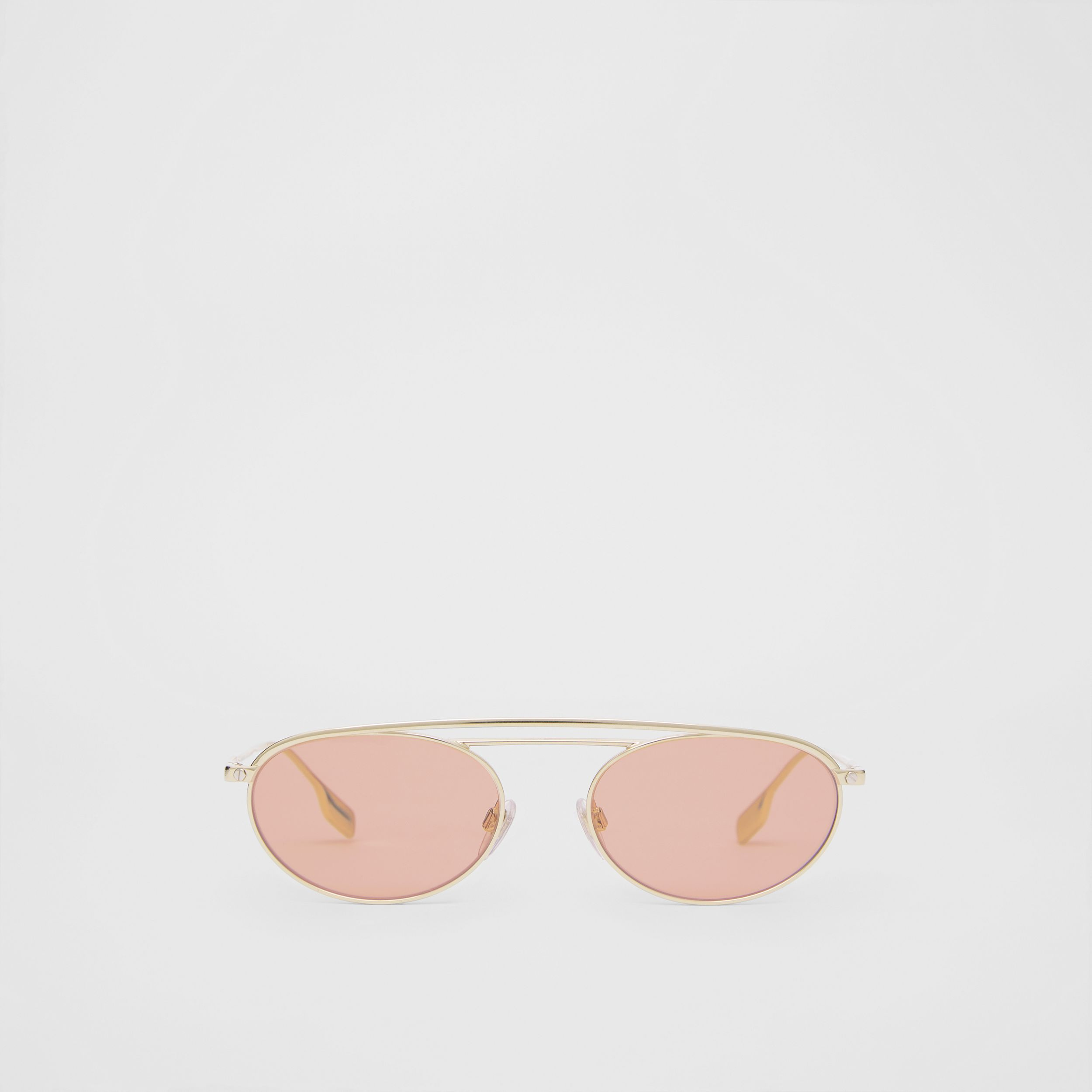Oval Frame Sunglasses in Light Pink - Women | Burberry - 1