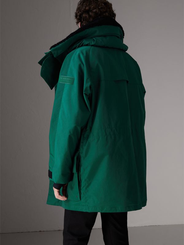 Detachable Shearling Collar Modular Jacket with Warmer in Sea Green - Men | Burberry - cell image 2